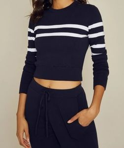 The Upside Knit Crop Long Sleeve Cut Out Sweater